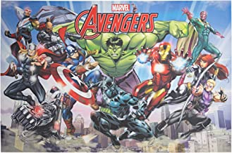 """Officially Licensed Marvel Comics Original Avengers Comic Book Cover Wrapped Canvas Wall Art (24"""" H x 36"""" L)"""