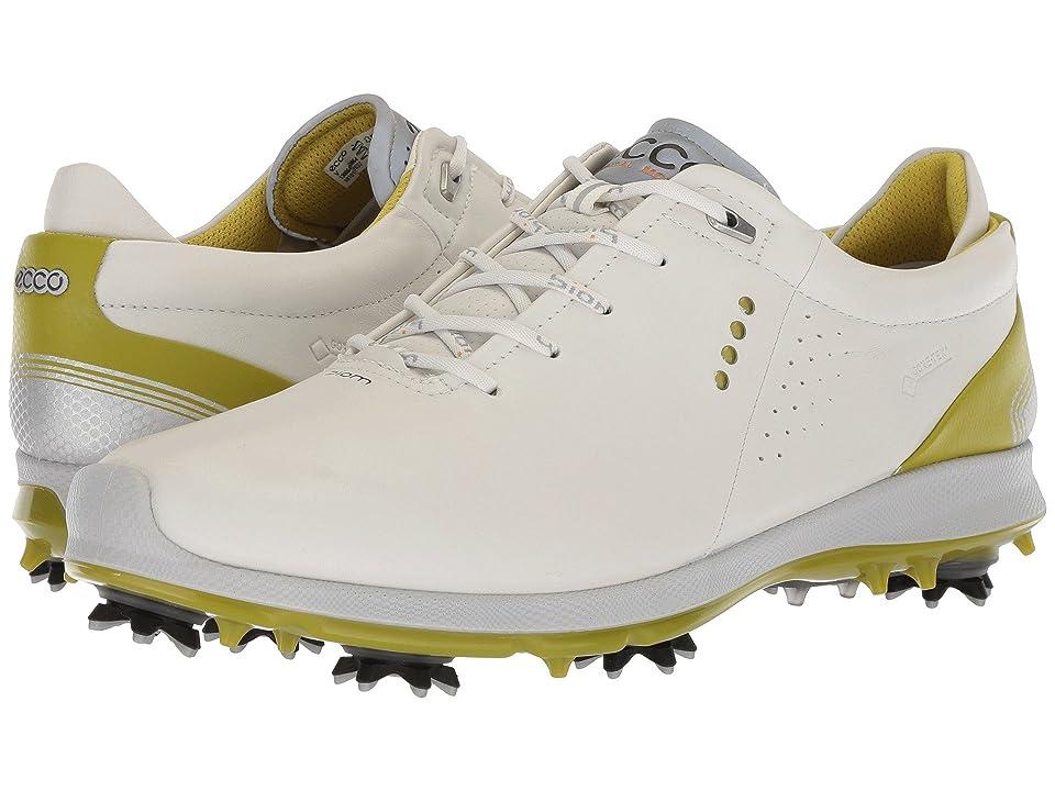 ECCO Golf Biom G 2 Free GTX (White/Kiwi) Men