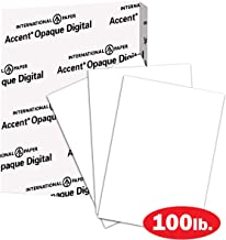 Accent Opaque Thick Cardstock Paper, White Paper, 100lb Cover, 271gsm, 8.5 x 11, 97 Bright, 1 Ream / 200 Sheets – Smooth, Heavy Card Stock (188091R)