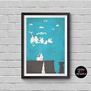 Up Minimalist Poster Up Animation Movie Quote Alternative Print Inspired Disney and Pixar Collection Adventure Is Out There Home Decor Cinema Poster Artwork Wall Art Wall Hanging Cool Gift