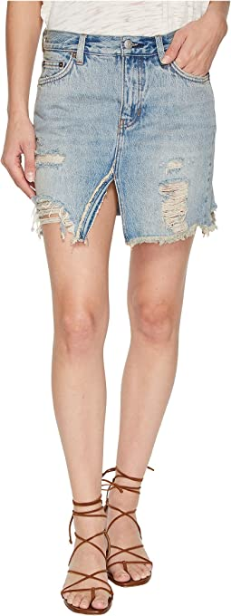 Free People Relaxed and Destroyed Skirt