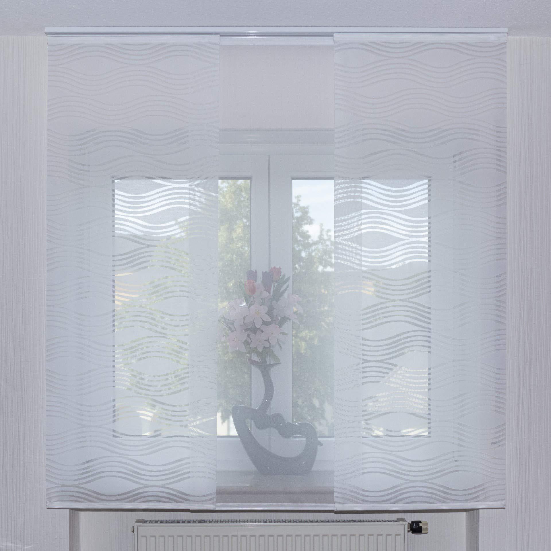 Juego de 3 cortinas correderas con accesorios (varios Longitudes) Feline-Desiree II.: Amazon.es: Hogar