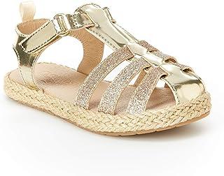Gold Cute Glitter Kids T-Strap Sandals Rhinestone Girls Youth Casual Shoes
