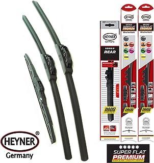 HEYNER Super Premium planas escobillas del limpiaparabrisas delantero y trasero clásico HEYNER 24