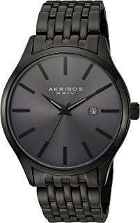 Akribos XXIV Men's Radiant Sunray Dial Watch - Accented Dial with Date Window On Stainless Steal Bracelet - AK941