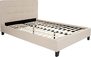 My Friendly Office MFO Charlize Collection Full Size Bed in Beige Fabric