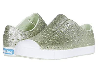 Native Kids Shoes Jefferson Bling Glitter (Little Kid) (Cucumber Bling/Shell White) Girls Shoes