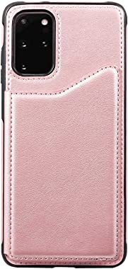 LQinuan Positive Cover Compatible with iPhone 11 Pro, Rose Gold PU Leather Wallet Flip Case for iPhone 11 Pro