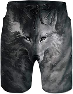Lifocs 3D Wolf Graphic Printed Tank Tops Casual Hawaiian Shirt Cool Swim Trunks Joggers Pants Realistic Sweatshirts