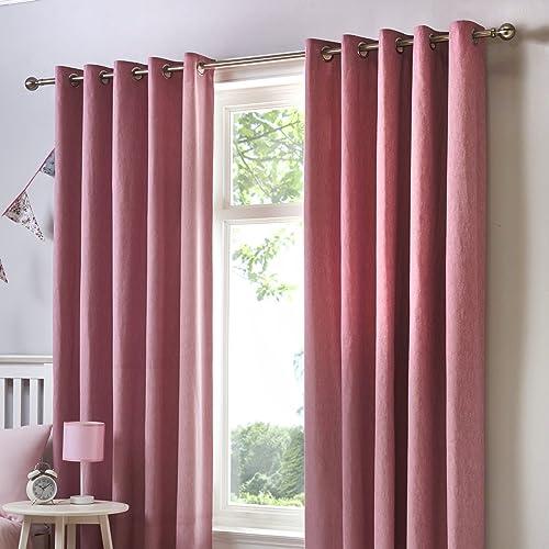 Pink Velvet Curtains Amazoncouk