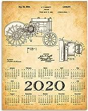 2020 Calendar - John Deere Tractor Patent - 11x14 Unframed Calendar Art Print - Great Farm Calendar, Also Makes a Great Gift Under $15