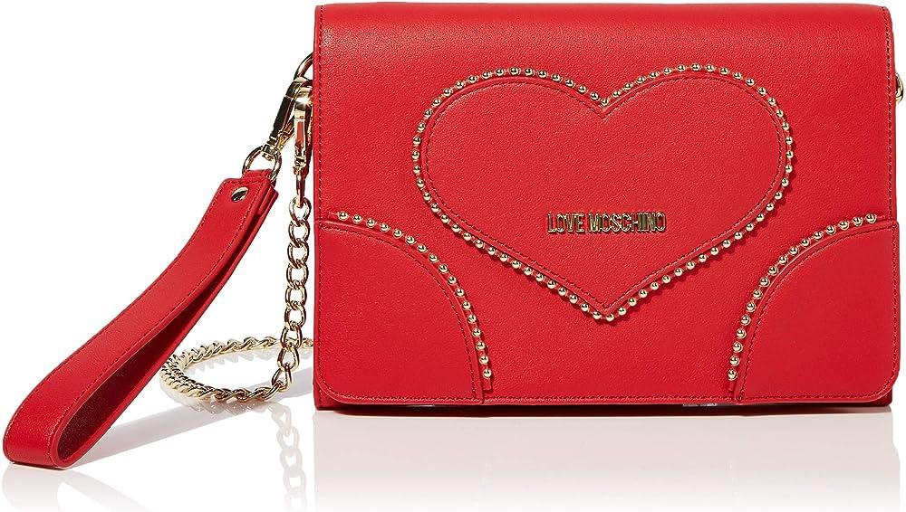 Love moschino, borsetta per donna,pochette a tracolla/polso, in ecopelle JC4249PP08KG0