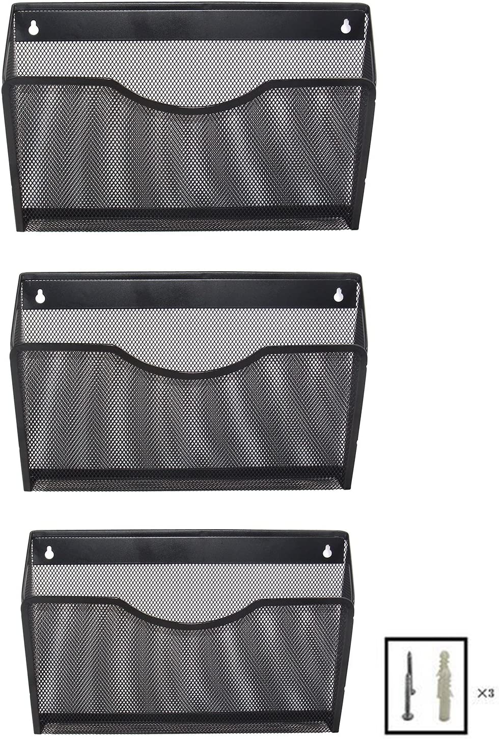 EasyPAG Mesh Wall File Folder Hanging Holder Orga Pockets Super-cheap Max 54% OFF 3