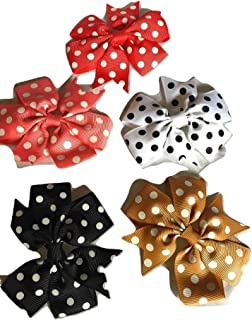 Xldreams 5 Polka Dotted Imported Kids Snap/tiktok clips for kids festival/wedding/Party Assorted colors