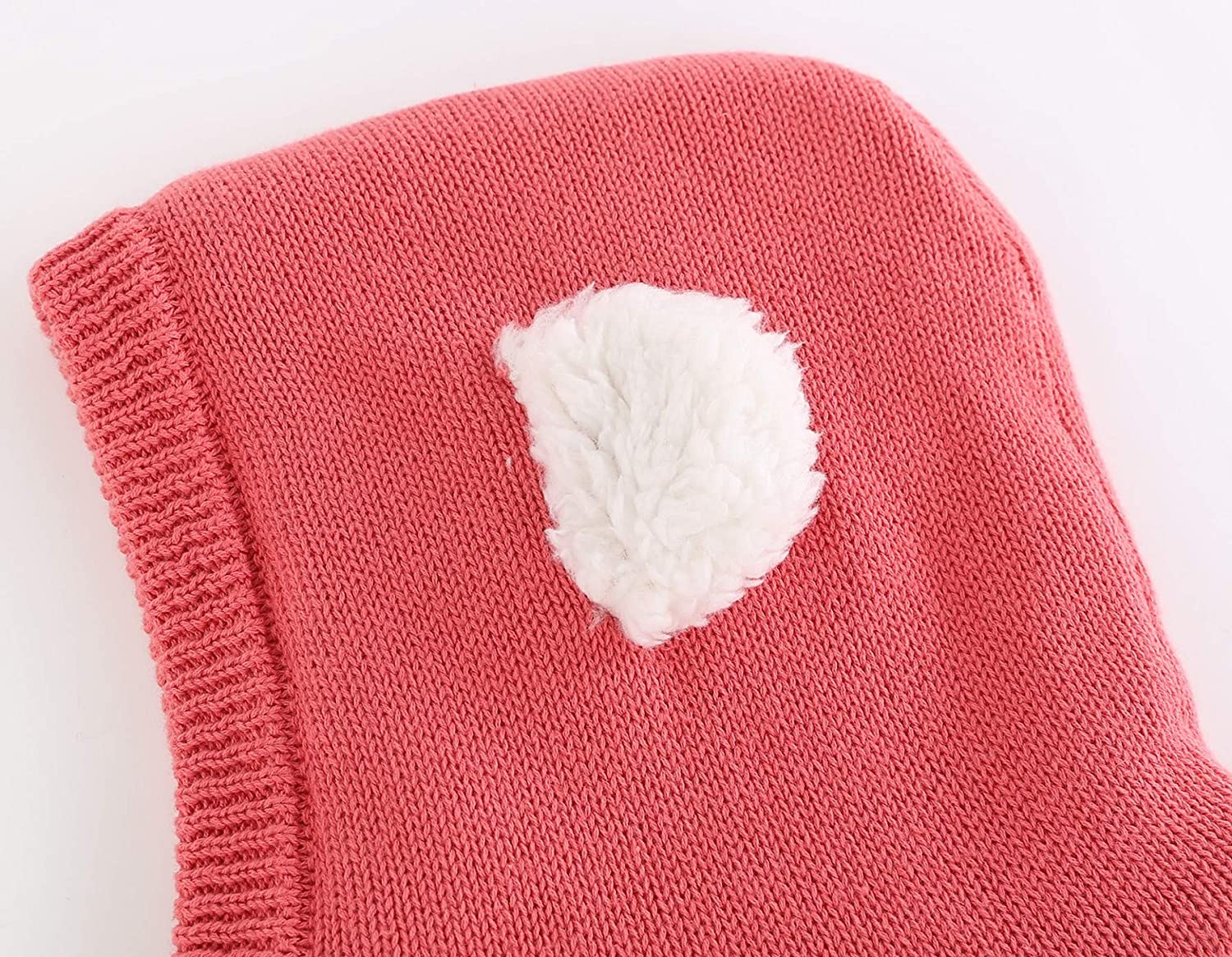Connectyle Toddler Kids Warm Winter Windproof Hat Knit Sherpa Lined Hood Cowl Scarf Beanies