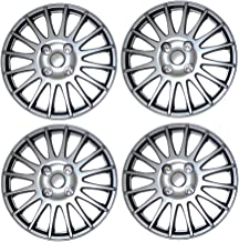 TuningPros WSC3-611S16 4pcs Set Snap-On Type (Pop-On) 16-Inches Metallic Silver Hubcaps Wheel Cover