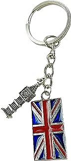 Art Attack British Flag Keychain, Big Ben Clock Tower Pendant, England London UK United Kingdom