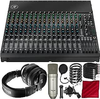 Mackie 1604VLZ4 16-Channel 4-Bus Compact Mixer with PreSonus HD9 Headphones, Tascam TM-80-Microphone, Xpix Mic Filter, and Platinum Audio Bundle