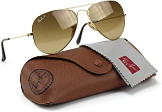 Ray-Ban RB3025 001/M2 Aviator Shiny Gold Frame/Brown Polarized Lens 58mm