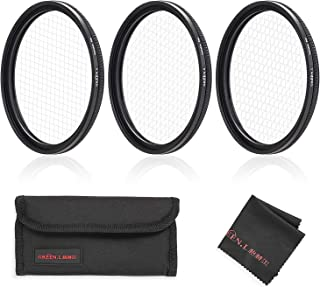 GREEN.L Star Filter Set 52mm Adjustable 4 Points 6 Points 8 Points Slim Star Filter with Filter Pouch Cleaning Coth