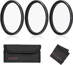 GREEN.L Star Filter Set 49mm Adjustable 4 Points 6 Points 8 Points Slim Star Filter with Filter Pouch Cleaning Coth