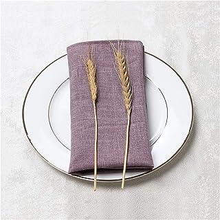 Kitchen Cloth Napkins مناديل القماش متعدد الألوان 10 حزمة 17.7x17.7 بوصة القطن الدائم والمناديل الكتان كبيرة لحفلات الزفا...