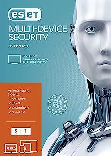 ESET Multi-Device Security 2019 Edition 5 User (FFP). Für Windows Vista/7/8/10/MAC/Linux/Android