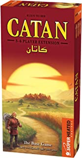 Catan Base Game   Extension 5-6 Players   Official Version   English and Arabic Language   Family Game For Ages 10+   Boar...