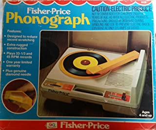 VINTAGE Fisher Price Electric Record Player Phonograph -- as shown