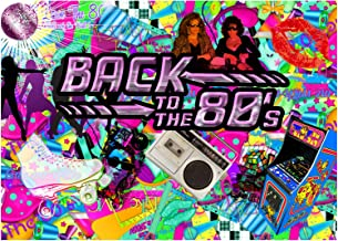 Sunlit Back to the 80's Photo Backdrop, 80s Themed Party Decoration, 7x5ft Photo Booth Background, Party Banner, Hip Hop, Graffiti
