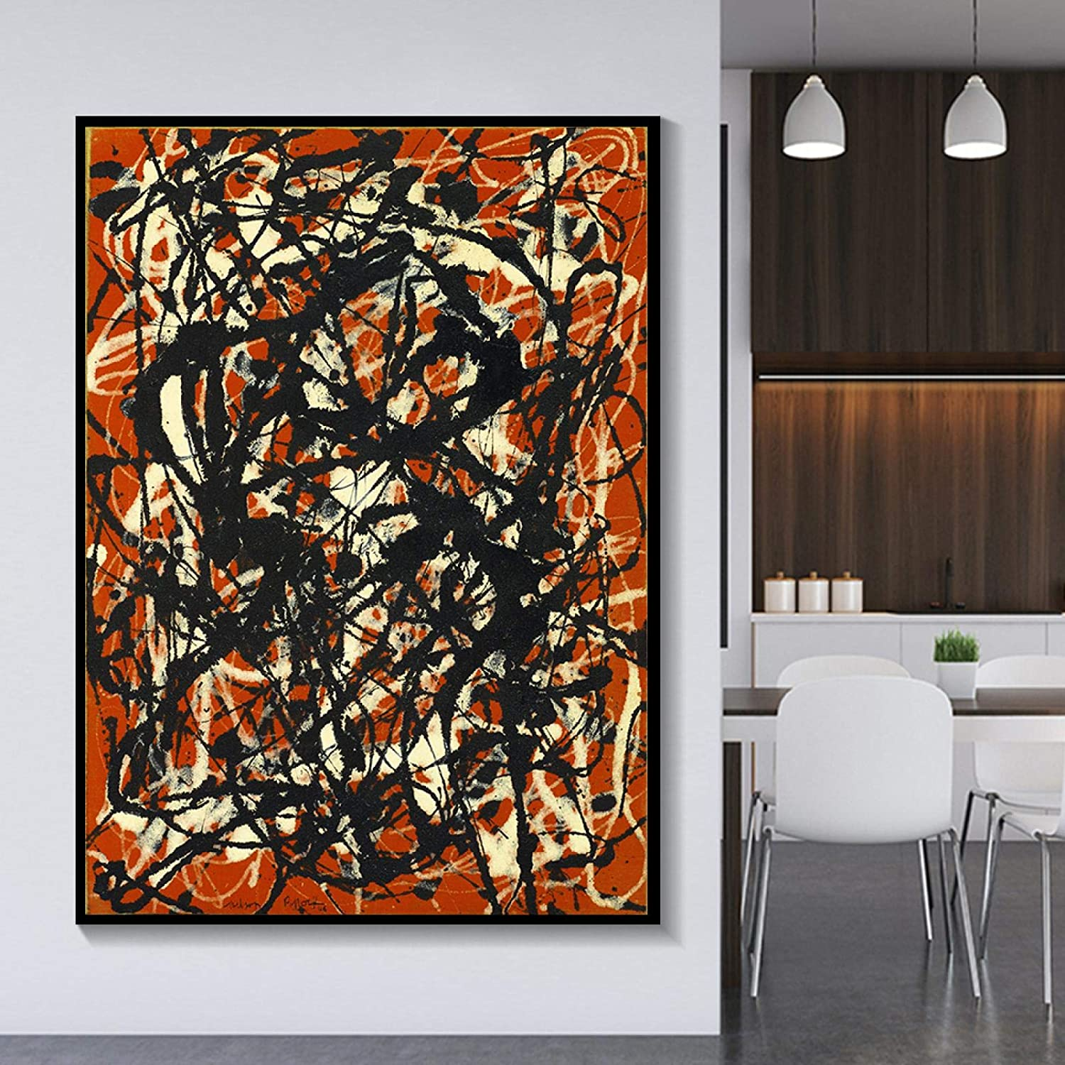 Canvas painting Max 76% OFF Jackson Pollock《Free Poster Pic New item Form》Artwork