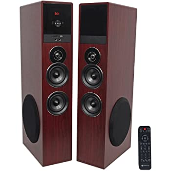 """Rockville TM80C Bluetooth Home Theater Tower Speaker System+(2) 8"""" Subwoofers"""