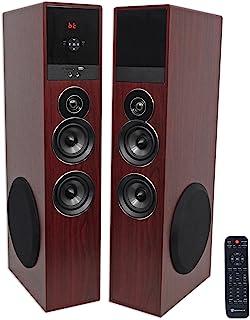 "Rockville TM80C Sistema de altavoces de torre de cine en casa Bluetooth + (2) subwoofers de 8"""