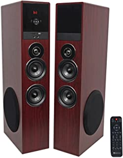 "Rockville TM80C Bluetooth Home Theater Tower Speaker System+(2) 8"" Subwoofers"