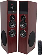 Rockville TM80C Cherry Powered Home Theater Tower Speakers 8