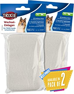 Trixie Pads for Protective Pants, 10 Pcs (m) Pack of 3