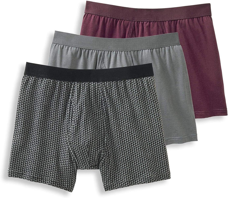 Jockey Men's Underwear Signature Cotton Modal Stretch Boxer Brief - 3 pack
