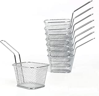 Yaekoo 8Pcs Mini Mesh Wire French Fry Chips Baskets Net Strainer Kitchen Cooking Tools