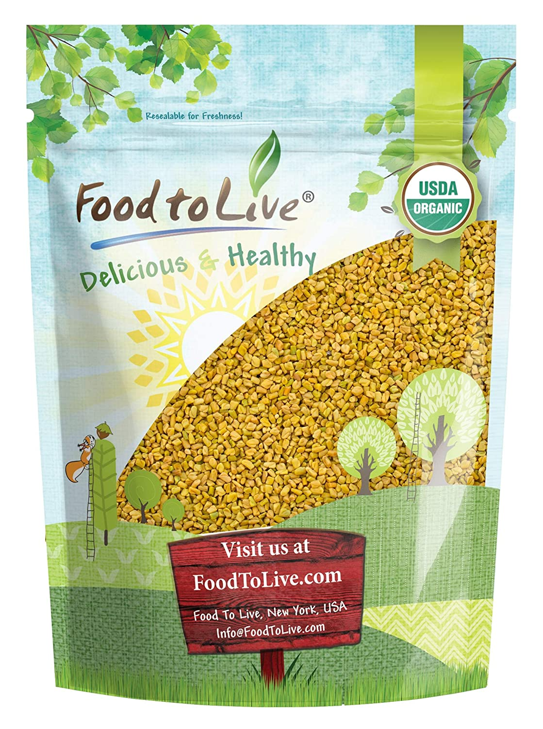 Organic Complete Free Shipping Max 63% OFF Fenugreek Seeds 2.5 Pounds M — Raw Non-GMO Whole
