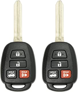 Keyless2Go New Keyless Entry Remote Car Key for Vehicles That Use HYQ12BDM with G Chip (2 Pack)