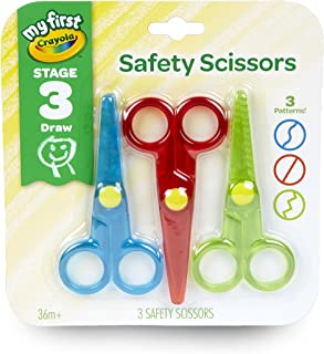 Crayola 811458 Safety Scissors (Pack of 3),Red,Green,Blue