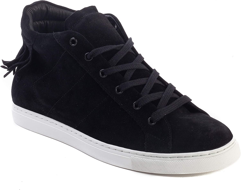 Iro Woherrar Novo mocka Fringaae Low Low Low -Top Sneeaker skor svart  mode