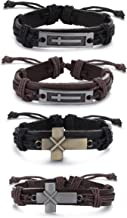 Best cross leather wristband Reviews
