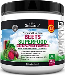 Beets Superfood Powder - Beet Root Powder with Vitamin C - with Organic, Antioxidant Rich Fruits & Vegetables - Boost Stam...