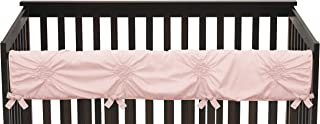 Solid Color Blush Pink Shabby Chic Long Front Crib Rail Guard Baby Teething Cover Protector Wrap for Harper Collection by Sweet Jojo Designs