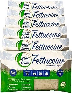 Organic Well Lean Fettuccine, 6 Pack, 9.52 oz, Premium Shirataki Konjac Pasta, Keto Friendly, Non Gmo, Ready to Eat, Low C...