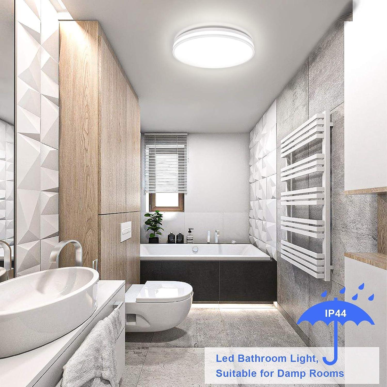 Badezimmer Lampe 20W, Airand Deckenlampe Led Deckenleuchte Rund ...