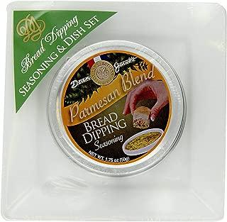 Dean Jacobs Parmesan Bread Dipping Gift Set, 1.75 oz Seasoning Tin & 5
