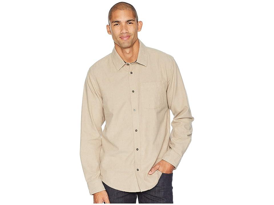Prana Woodman Long Sleeve Shirt (Dark Khaki) Men