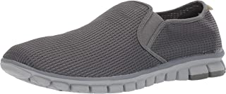 NoSox Mens Wino Comfort Cushioned Flexible Breathable Casual Slip-on Sneaker Grey Size: